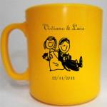 Canecas de café personalizadas Viviane e Luis