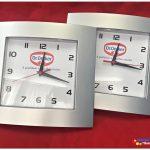 Relógios de parede personalizados Social prata Dr. Oetker