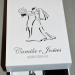 Caixinhas de MDF caixa chandon II Camila e Josias