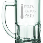 Canecas de vidro Feliz dia dos Pais