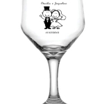 Taças de vidro bistrô 181ml Vinho Branco Otacílio e Jaqueline