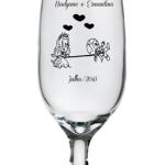 Taças de vidro personalizadas Floripa 300ml Nadyane e Ermantino