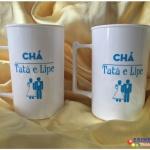 Canecas de acrilico personalizadas 400ml Chá Tata e Lipe