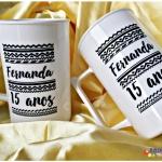 Canecas de acrilico personalizadas 400ml Fernanda