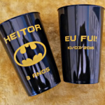 Copos caldereta personalizados Heitor 3 anos