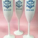 Taças de acrilico personalizadas Anna Paula e Douglas