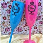 Taças de acrilico personalizadas Iara