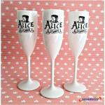 Taças de acrilico personalizadas Alice