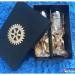 Caixa de mdf personalizada kit com taça