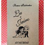 Caixinhas de mdf personalizadas Lu e Jairo