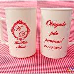 Canecas de acrilico personalizadas para casamento Ana Paula e Daniel