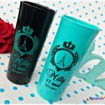 Copos long drink personalizados Milly 15 anos