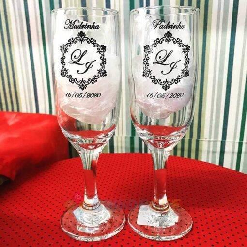 Taças de Vidro Personalizadas de Champanhe Gallant 180ml