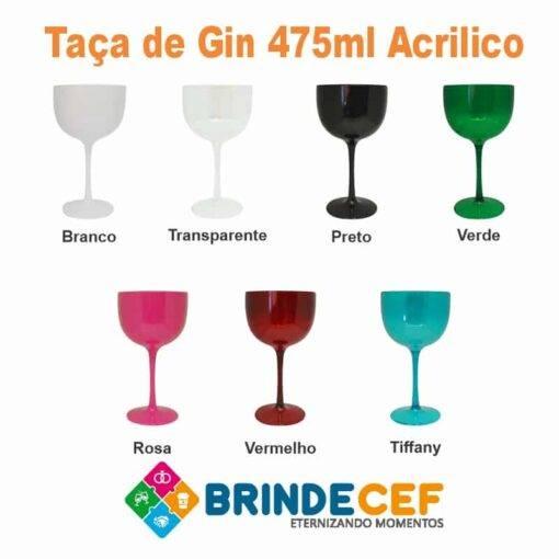 Taça Acrilico de Gin 475ml Personalizada