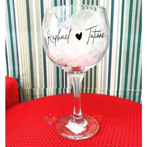 Taça de Vidro de Gin 600ml Personalizada