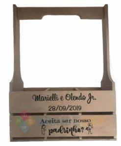 Caixote de MDF com Alça e 3 Divisórias Personalizado