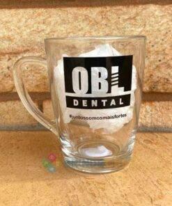 Caneca de Vidro Tarsila 300ml OBL Dental