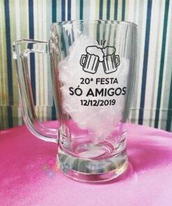 Caneca de Vidro Taberna 340ml 20a. Festa Só Amigos