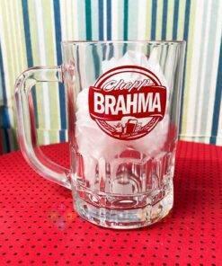 Caneca de Vidro Lotus 300ml Brahma