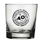 Copo de Whisky Atol 310ml Marcao 40 anos