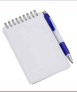 Caderneta de Anotações Vertical Marrom