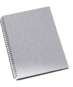 Caderno de Negócios Grande Capa Metalizada Azul