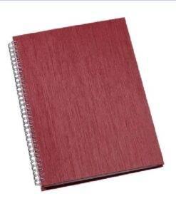 Caderno de Negócios Grande Capa Metalizada Personalizado Vermelho