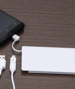 Power Bank Plástico Formato Cartão com indicador Led Personalizado