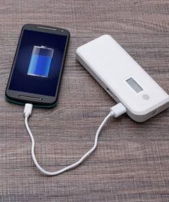 Powerbank Plástico com Indicador Digital e Lanterna Personalizado