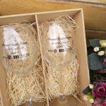taça barone de vinho personalizada com caixa de mdf personalizadas com taças barone 385 ml