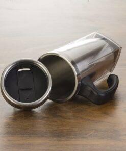 caneca de acrílico e Inox com tampa 450 ml