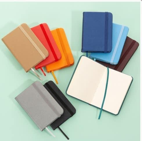 Mini Caderneta tipo Moleskine Personalizada